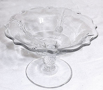 "Elegant Glass - Heisey - Plantation - Flared Open Jellly Compote 6 1/4"" wide"