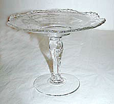 "Elegant Glass - New Martinsville - Prelude - Small Compote - 5"" High x 6 1/2"" Wide"