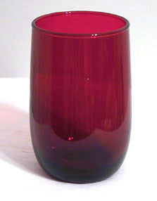 Anchor Hocking - Royal Ruby - Roly Poly Juice Tumbler