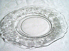 Elegant Glass - Cambridge - Rose Point - Luncheon Plate 8 1/2""