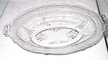 Hazel Atlas - Royal Lace - Oval Vegetable Bowl - Clear