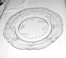 "Depression Glass - Hazel Atlas - Royal Lace Dinner Plates 9 7/8"" - Clear"