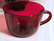40s 50s 60s - Anchor Hocking - Royal Ruby - Cups - Only Lot of 6