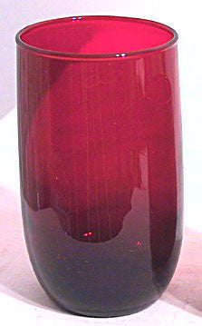 Anchor Hocking - Roly Poly - Tumblers - Royal Ruby - 4.25""
