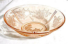 Federal - Sharon / Cabbage Rose - Pink Berry Bowl 8 1/2""
