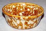 Stoneware - Brown & Cream Spongeware - Small Bowl 5""