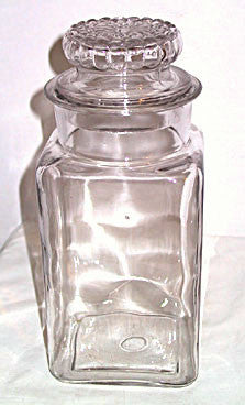 Glass Canister or Country Store Jar - Glass 11.25""