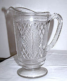 EAPG - McKee - Sunk Diamond & Lattice - Pitcher 8 3/4""
