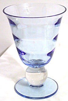 Elegant Glass - Tiffin Modern - Sweet Pea Vase - Copen Blue & Clear 7.5""