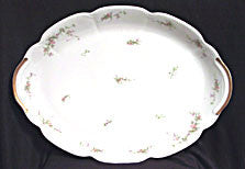 Theodore Haviland Floral Sprig Turkey Platter Gold Trim 18.5 in.