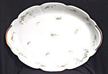 "Theodore Haviland - Limoges - Platter - Dainty Pink Flowers - 14"" long"