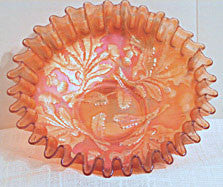 Fenton - Carnival Glass - Marigold Thistle Bowl 8""