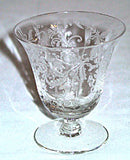 Elegant Glass - Lotus - Vesta - Oyster Cocktails - Lot of 2