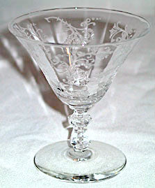 Elegant Glass - Lotus Vesta - Sherbets - Lot of 7