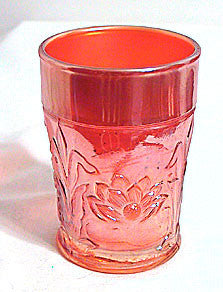Northwood - Marigold Carnival Glass - Water Lily - Tumbler