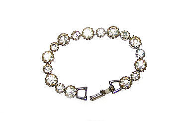 Bracelet - Weiss - Single Strand - Tennis Bracelet - 6 3/4""