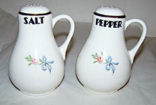 Hall China - Wildfire - Handled Salt & Pepper Shakers 5""