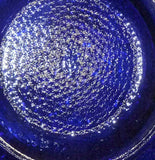 Imperial - Windmill - Cobalt Blue Carnival Plate 9 1/2""