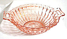 Depression Glass - Jeannette - Windsor - Handled Bowl 8""
