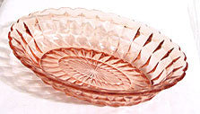 Jeannette - Windsor Diamond - Pink Oval Vegetable 9 1/2""