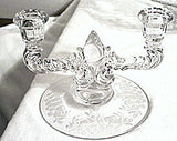 New Martinsville - Meadow Wreath Double Candle Holders - Pair