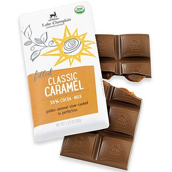 Lake Champlain Chocolates - Organic Milk Chocolate Caramel Bar