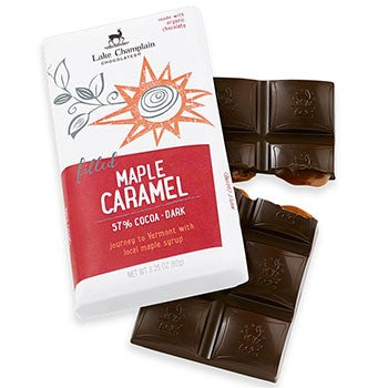 Lake Champlain Chocolates- Organic Dark Chocolate Maple Caramel Bar