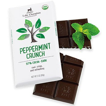 Lake Champlain Chocolates - Organic Dark Chocolate Peppermint Crunch Bar