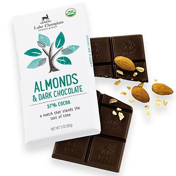 Lake Champlain Chocolates - Organic Almonds & Dark Chocolate Bar