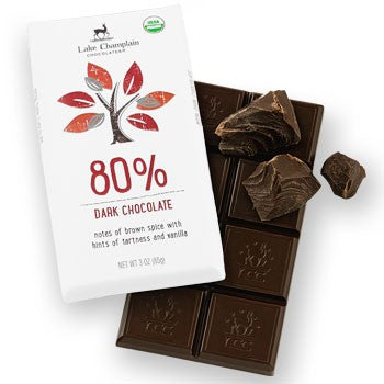 Lake Champlain Chocolates - Organic 80% Dark Chocolate Bar