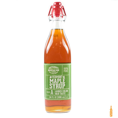 Butternut Mountain Farm - Grade A Maple Syrup Clasp Top Bottle (32 fl OZ) - Cheese and Wine Traders