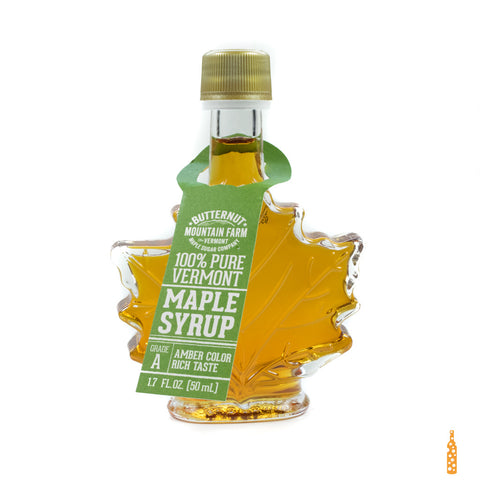 Butternut Mountain Farm - Grade A Maple Syrup Leaf Bottle  (1.7 FL OZ) - Cheese and Wine Traders