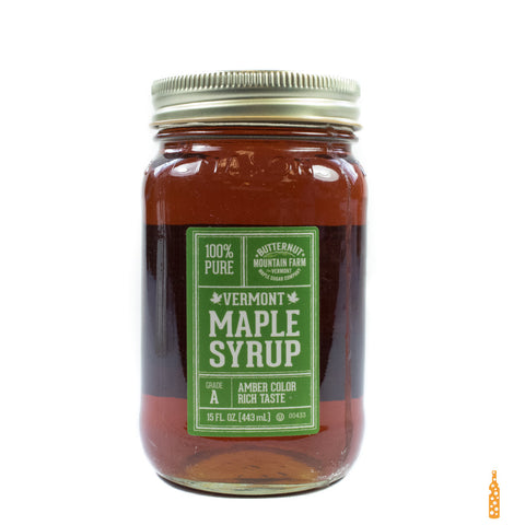 Butternut Mountain Farm - Grade A Maple Syrup Mason Jar (15 FL OZ) - Cheese and Wine Traders