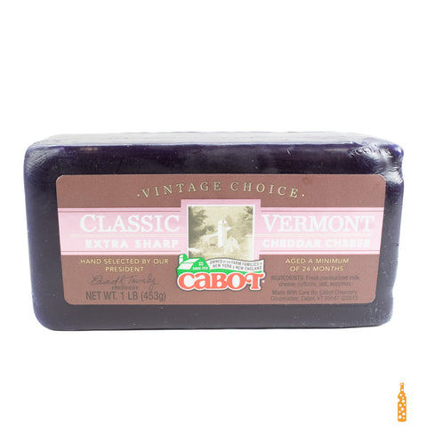 Cabot Vintage Choice Waxed Cheddar (1 lb) - Cheese and Wine Traders