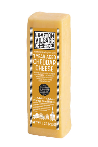 Grafton Village Cheese Co. - 1 Year Aged Cheddar (8oz)