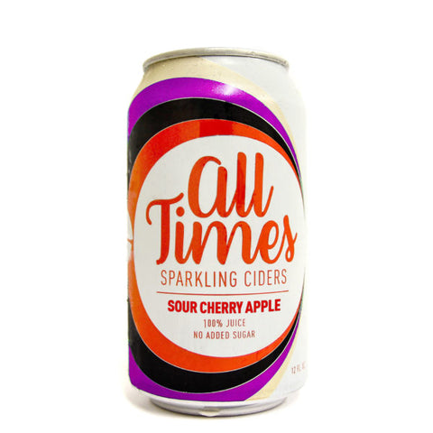 Citizen Cider - All Times Sparkling Non-Alcoholic Sour Cherry Apple Cider (12 oz can) - Cheese and Wine Traders