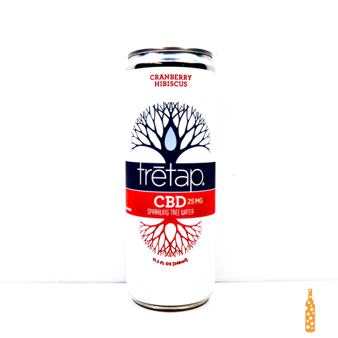 Tretap CBD Seltzer Cranberry Hibiscus 340ml can