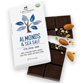 Lake Champlain Chocolates - Organic Dark Chocolate Almonds & Sea Salt Bar