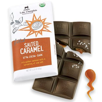 Lake Champlain Chocolates - Organic Dark Chocolate Salted Caramel Bar