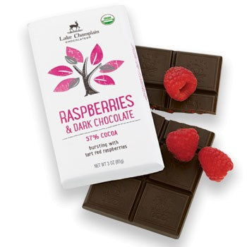 Lake Champlain Chocolates - Organic Raspberries & Dark Chocolate Bar