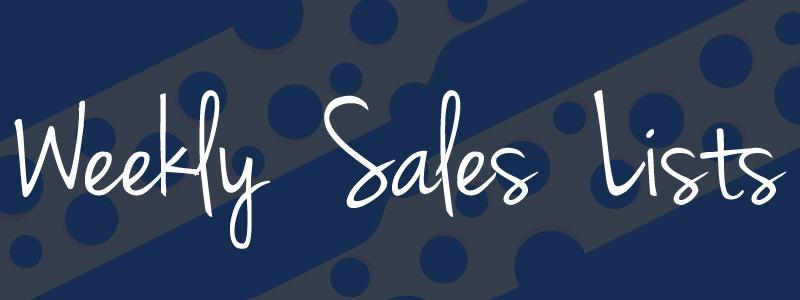 Weekly Sales Lists