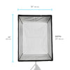 "Deluxe Softbox with Grid & Bowens Speedring - Rectangle - 36"" x 48"""