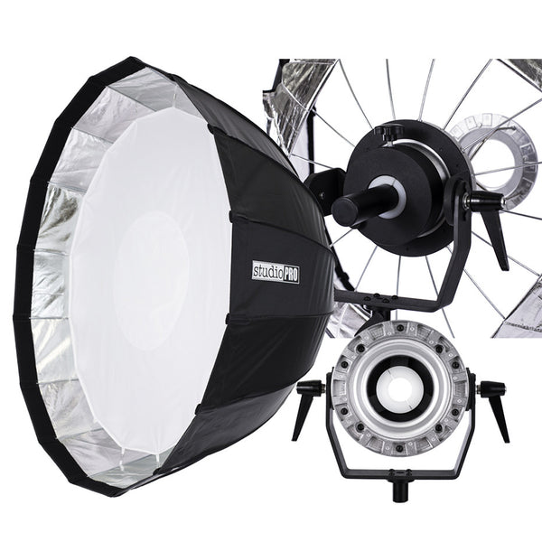 Classic Parabolic Softbox with Mounting Arm & Bowens Speedring - 47