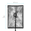 Standard-Series Rectangle Umbrella Softbox with Grid - 24 x 36""