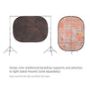 Printed Old-Town Brick & Dyed Brown Muslin Double-Sided Pop-Up Background