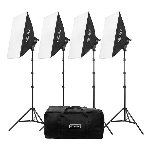 Classic 4-Light Fluorescent Lighting Kit with Bag