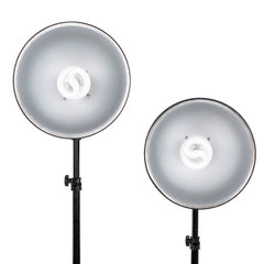 StudioPRO 850W Fluorescent Bulb Reflector Socket Photo Lighting Kit