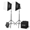 600XB Bi-Color LED Panel with DMX, Portable Lighting Kit