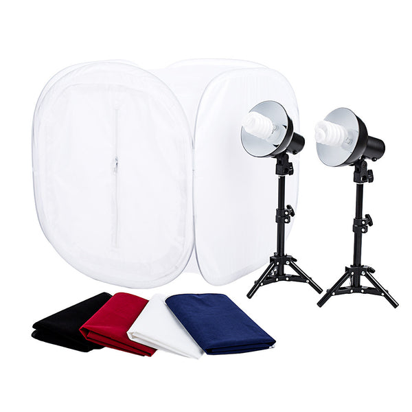 Pop-Up Shooting Tent Kit with Lights- 24