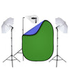 Basic Video Stream Lighting Kit with Pop-up Green Screen Background